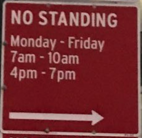 - NO STANDING ANY TIME SIGN VARIOUS SIZES SIGN /& STICKER OPTIONS
