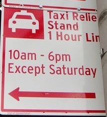 NYC street parking: Taxi Stand sign