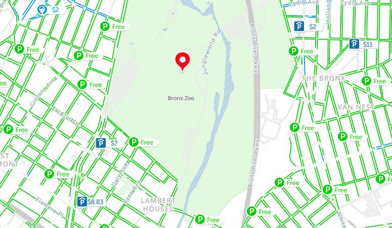 bronx zoo parking map nyc
