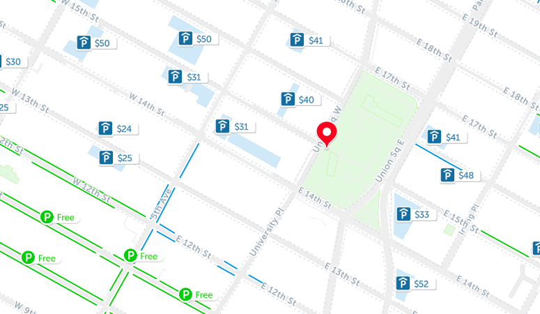 union square parking map nyc