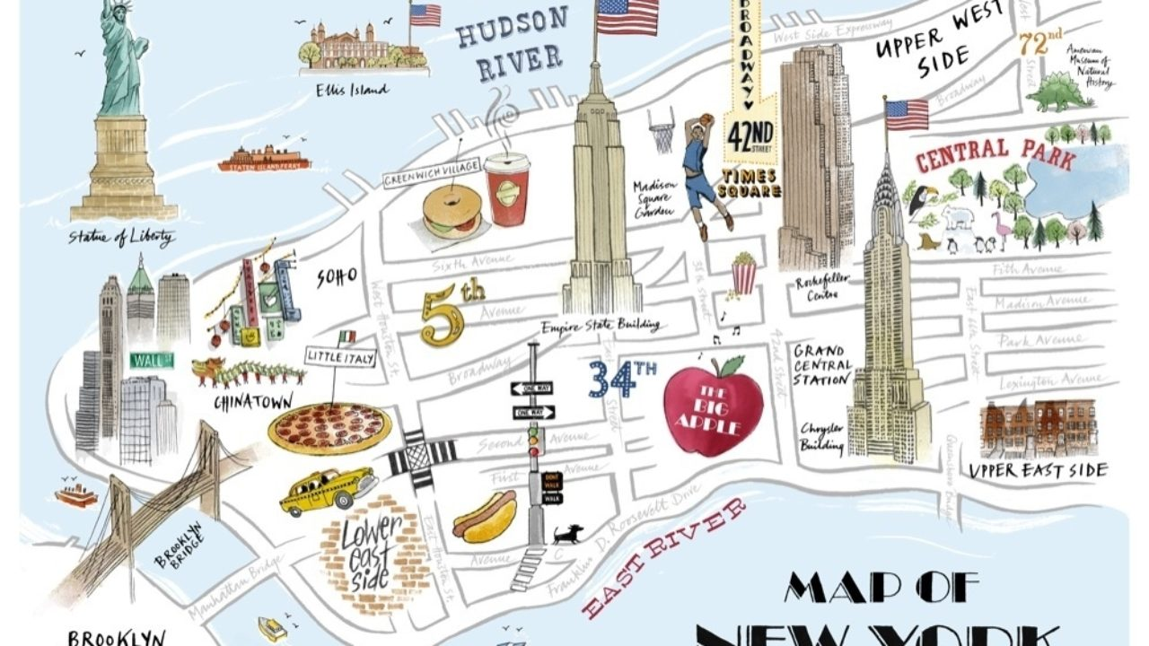 Free Map Of New York City.Where To Park In Nyc Near 13 Top Destinations Find Free Parking