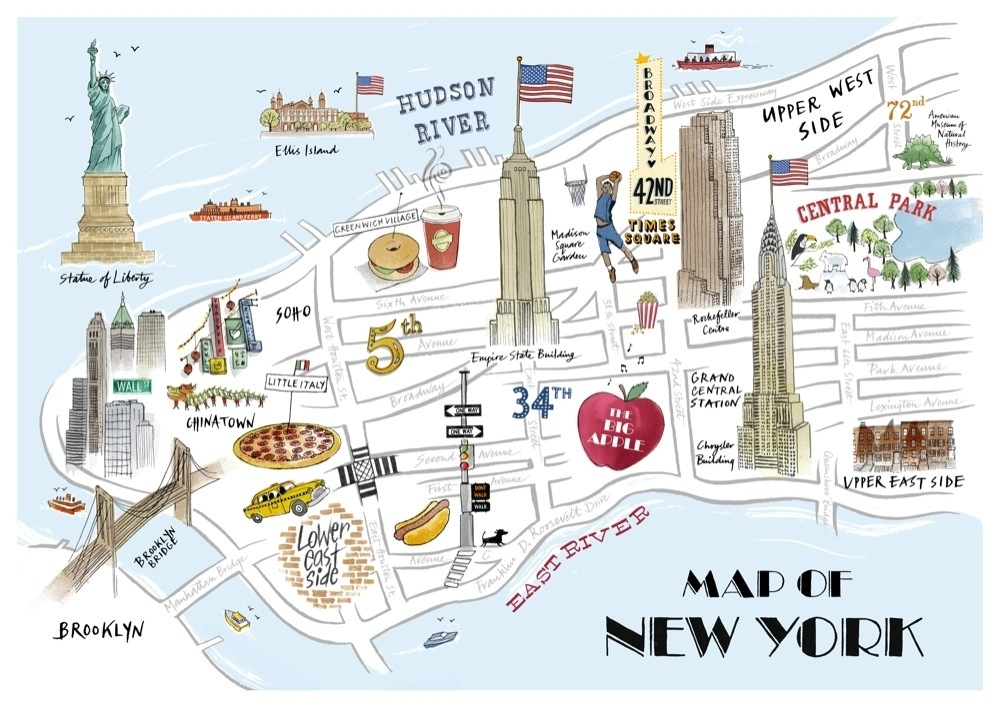 Map Of New York Tourist Spots.Where To Park In Nyc Near 13 Top Destinations Find Free