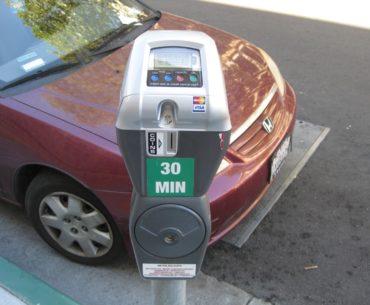 red-car-street-parking-on-berkeley-street-meter