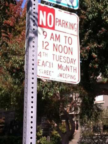 berkeley street sweeping sign