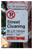spot angels street cleaning parking sign