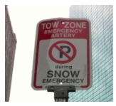 snow emergency parking sign spot angels