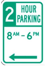 LA 2 hour parking limit sign spot angels