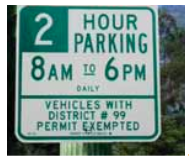 los angeles residential parking sign spot angels