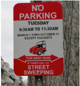 street cleaning sign dc spot angels
