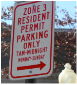 dc zone parking sign spot angels