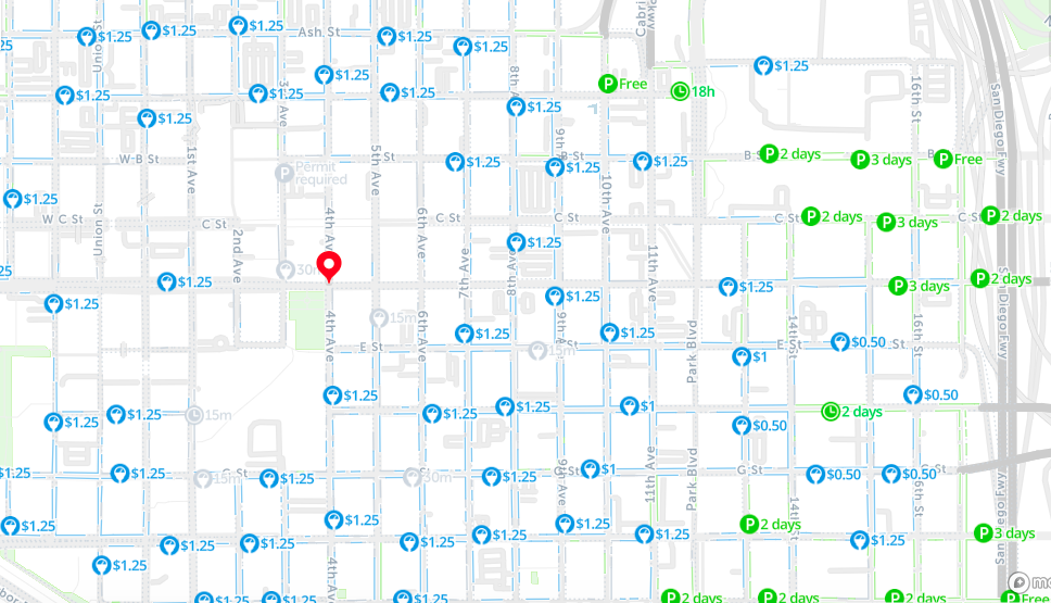 downtown san diego parking map