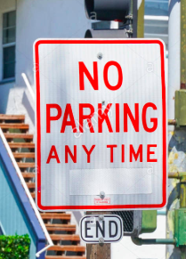 no parking anytime sign san diego spot angels