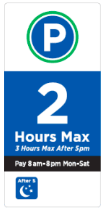 three hour parking sign spot angels seattle