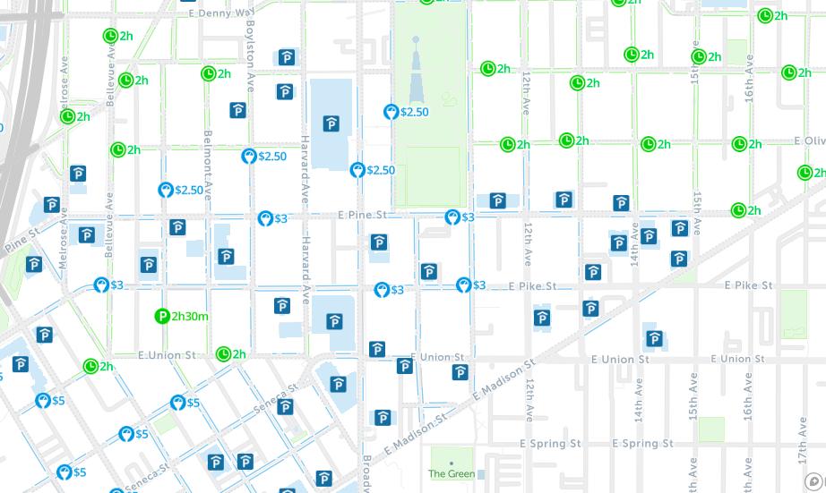 seattle street parking map spot angels