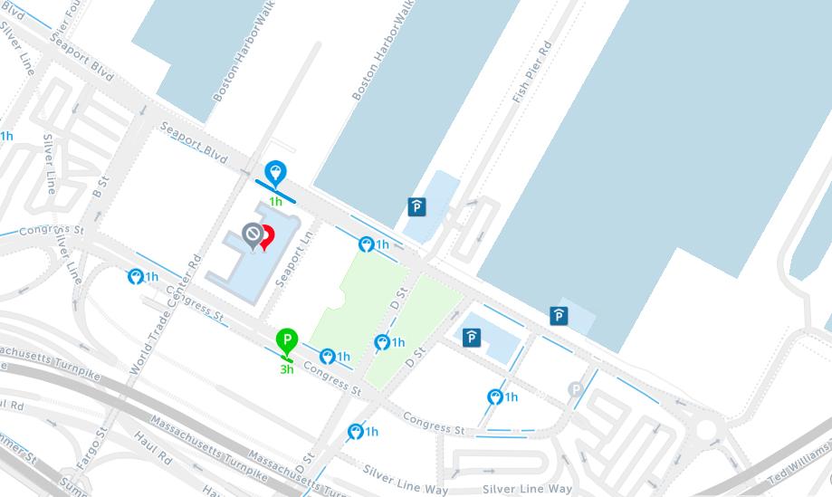 seaport boston parking map