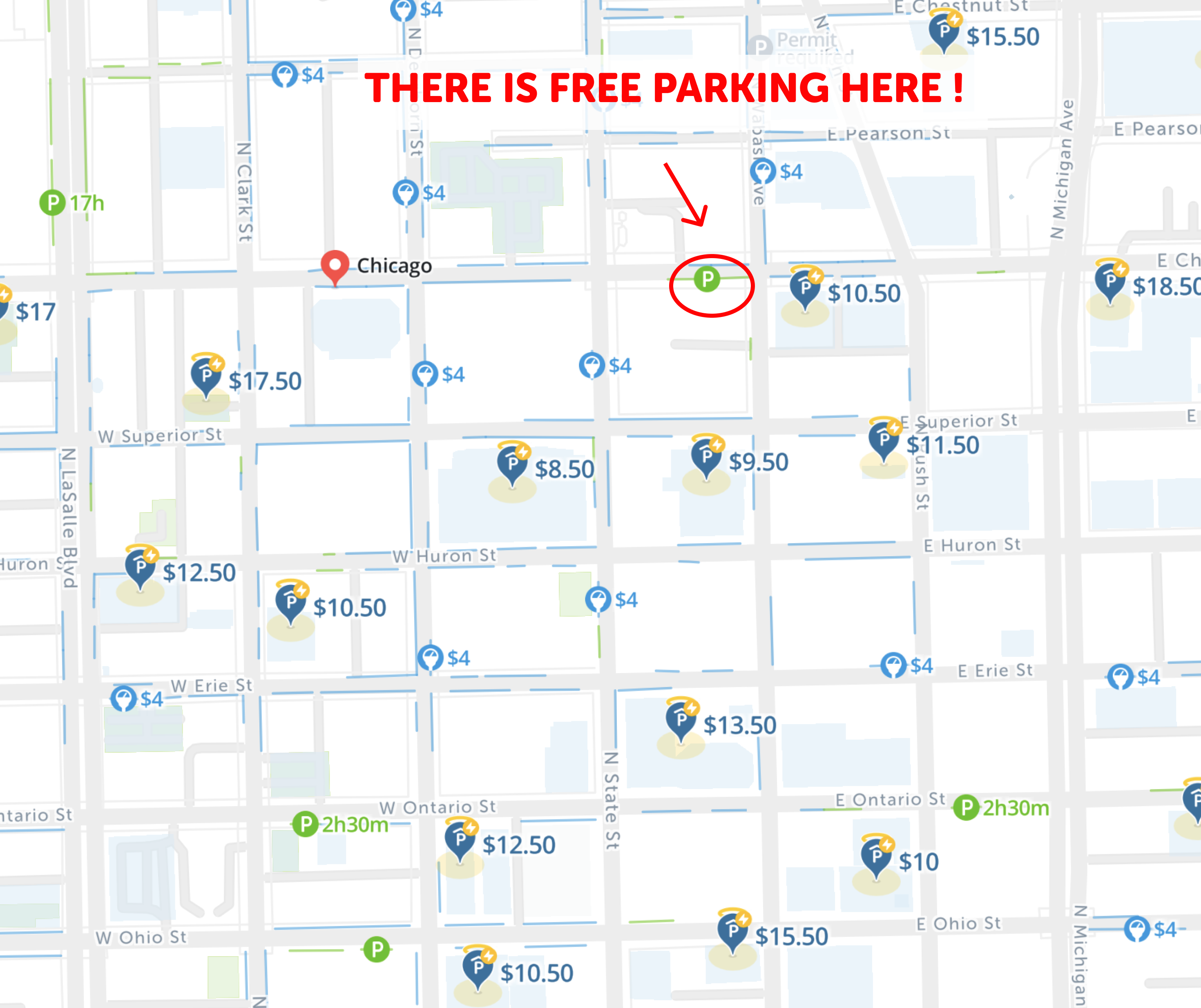 are parking meters free on weekends in chicago