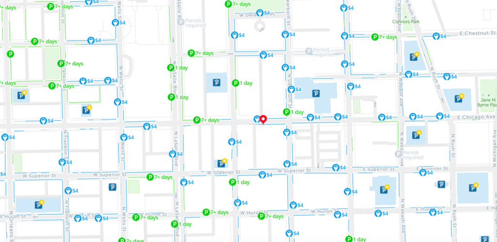 2019: Map of Free Parking in Chicago – SpotAngels on
