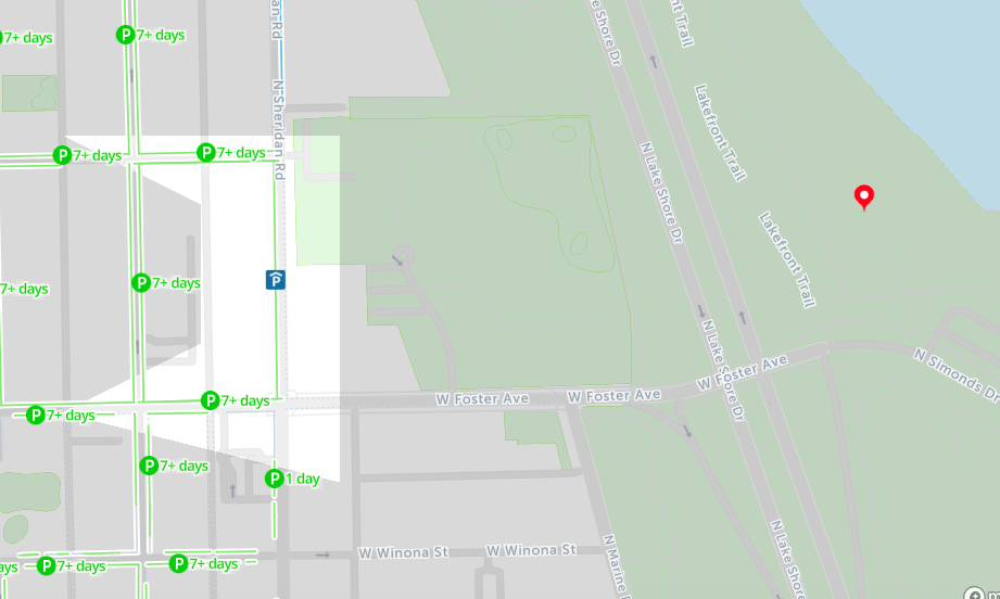 Free Parking Chicago Map.2019 Map Of Free Parking In Chicago Spotangels