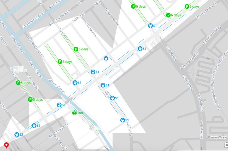 2019: Map of Free Parking in Los Angeles – SpotAngels
