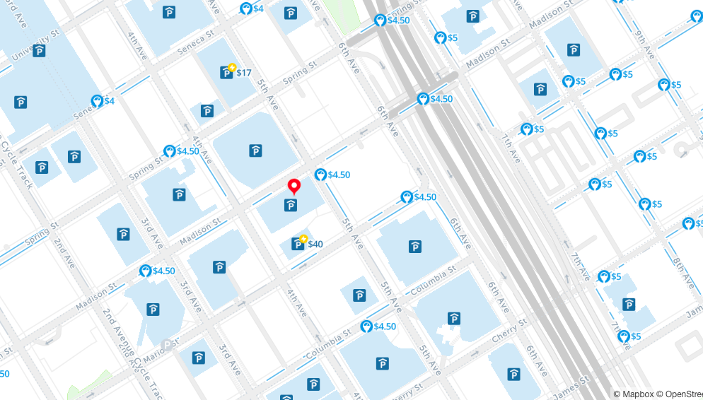 free parking map of seattle spot angels