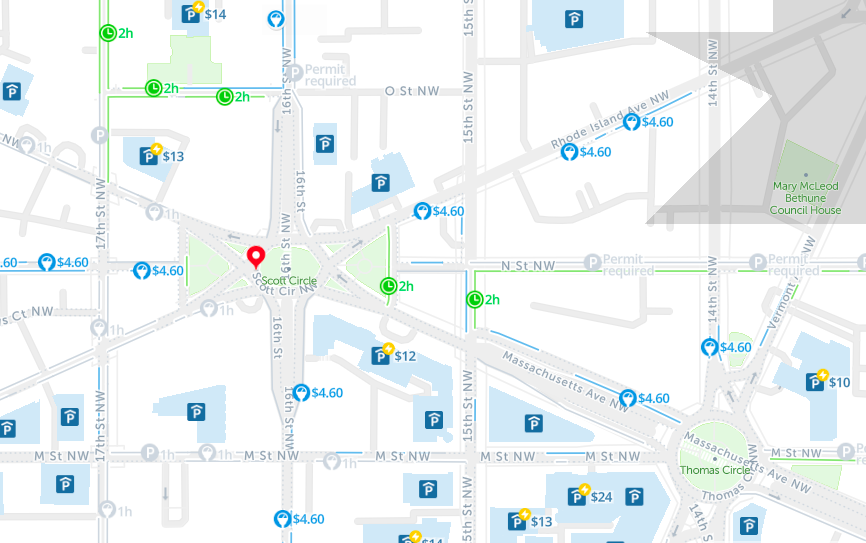 2019: Map of Free Parking in Washington D.C. – SpotAngels on