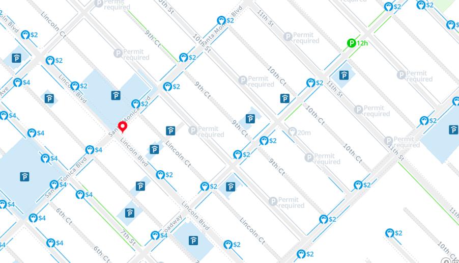 Santa monica free parking map spot angels