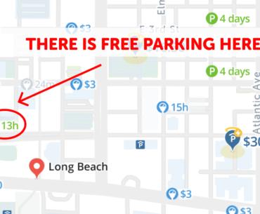 Long Beach Parking Map