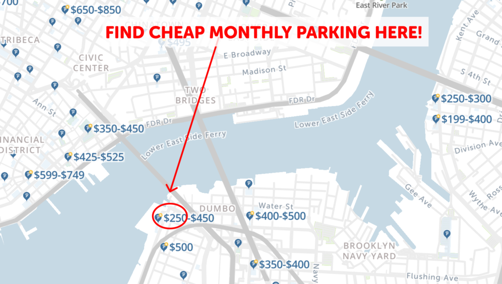 NYC Monthly parking map