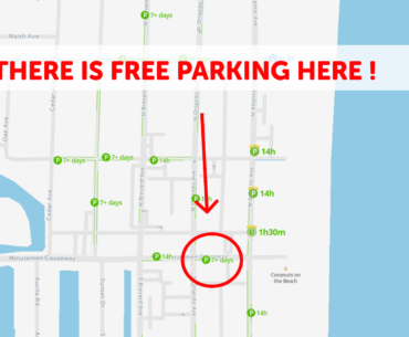Cocoa beach Parking Map