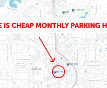 Atlanta Monthly Parking Map
