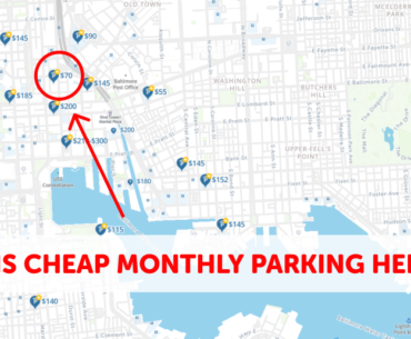 Baltimore Monthly Parking Map