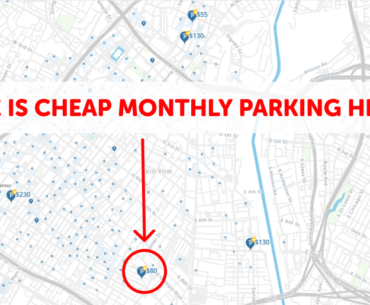 Los Angeles Monthly Parking Map